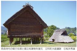 奈良時代の竪穴住居と掘立柱建物を復元 立科町大庭遺跡